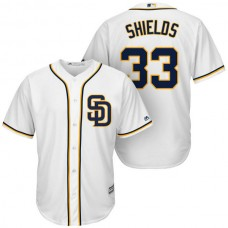 San Diego Padres #33 James Shields White Cool Base Jersey