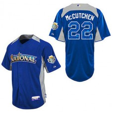 Pittsburgh Pirates #22 Andrew McCutchen Blue 2012 All-Star BP Jersey