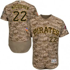 Pittsburgh Pirates #22 Andrew McCutchen Camo Flexbase Authentic Collection Player Jersey
