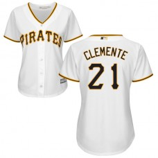 Women - Pittsburgh Pirates Roberto Clemente White Official Cool Base Jersey
