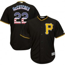 Pittsburgh Pirates #22 Andrew McCutchen Black Stars and Stripes Cool Base Jersey