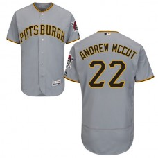 Pittsburgh Pirates #22 Andrew McCutchen Grey Authentic Collection Flexbase Jersey