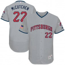Andrew McCutchen #22 Pittsburgh Pirates 2017 Stars & Stripes Independence Day Grey Flex Base Jersey