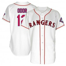 Texas Rangers #12 Rougned Odor White 1999 Throwback Turn Back the Clock Authentic Player Jersey