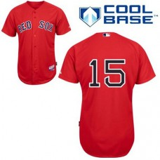YOUTH Boston Red Sox #15 Dustin PedroiaRed Cool Base Jersey