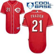 Cincinnati Reds #21 Todd Frazier Authentic Red Alternate Cool Base Jersey