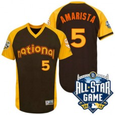 San Diego Padres Alexi Amarista #5 Brown National 2016 All-Star Game Home Run Derby Authentic Cool Base Jersey