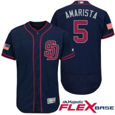 San Diego Padres #5 Alexi Amarista Navy Stars & Stripes 2016 Independence Day Flex Base Jersey