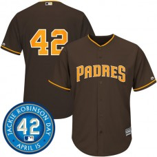 San Diego Padres #42 Jackie Robinson Brown Cool Base Jersey
