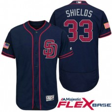 San Diego Padres #33 James Shields Navy Stars & Stripes 2016 Independence Day Flex Base Jersey