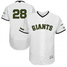 Buster Posey #28 San Francisco Giants 2017 Memorial Day White Flex Base Jersey