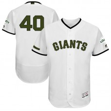 Madison Bumgarner #40 San Francisco Giants 2017 Memorial Day White Flex Base Jersey
