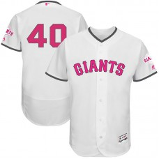 Madison Bumgarner #40 San Francisco Giants 2017 Mother's Day White Flex Base Jersey