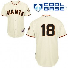 San Francisco Giants #18 Matt Cain Cool Base Cream Jersey