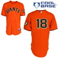 San Francisco Giants #18 Matt Cain Cool Base Orange Jersey