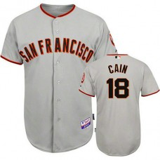 San Francisco Giants #18 Matt Cain Grey Jersey