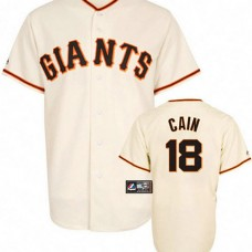 San Francisco Giants #18 Matt Cain White Jersey