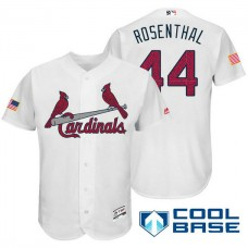 St. Louis Cardinals #44 Trevor Rosenthal White Stars & Stripes 2016 Independence Day Cool Base Jersey
