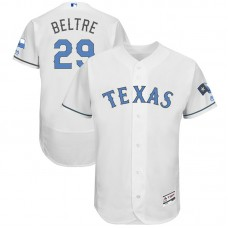 Adrian Beltre #29 Texas Rangers 2017 Father's Day White Flex Base Jersey