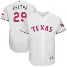 Adrian Beltre #29 Texas Rangers 2017 Mother's Day White Flex Base Jersey