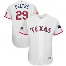 Adrian Beltre #29 Texas Rangers 2017 Stars & Stripes Independence Day White Flex Base Jersey