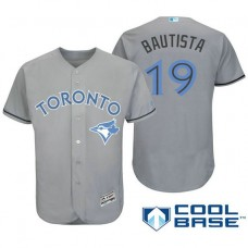 Toronto Blue Jays #19 Jose Bautista Grey Fashion 2016 Father's Day Cool Base Jersey