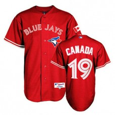 Toronto Blue Jays #19 Jose Bautista Red 2013 Canada Day Jersey