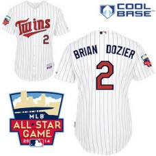 Minnesota Twins #2 Brian Dozier Authentic White Home Cool Base Jersey