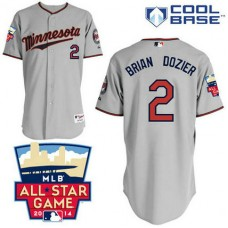 Minnesota Twins #2 Brian Dozier Authentic Grey Away Cool Base Jersey