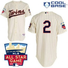 Minnesota Twins #2 Brian Dozier Authentic Cream Alternate Cool Base Jersey