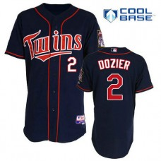 Minnesota Twins #2 Brian Dozier Authentic Navy Blue Alternate Home Cool Base Jersey