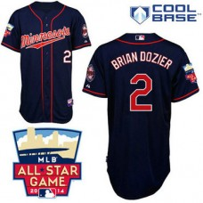 Minnesota Twins #2 Brian Dozier Authentic Navy Blue Alternate Away Cool Base Jersey