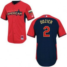 Minnesota Twins #2 Brian Dozier Authentic Red/Navy American League 2014 All Star BPJersey