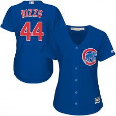 Women - Chicago Cubs Anthony Rizzo #44 Royal Cool Base Jersey
