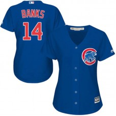 Women - Ernie Banks #14 Chicago Cubs Authentic Alternate Royal Cool Base Jersey