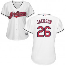 Women - Cleveland Indians #26 Austin Jackson Home White Cool Base Jersey