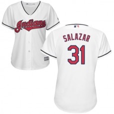 Women - Cleveland Indians Danny Salazar #31 White Authentic Cool base Jersey
