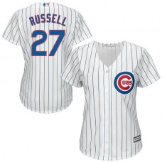 Women - Addison Russell #27 Chicago Cubs White Official Cool Base Jersey
