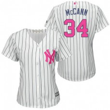 Women - New York Yankees #34 Brian McCann White Home 2016 Mother's Day Cool Base Jersey