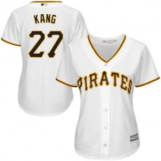 Women - Pittsburgh Pirates Jung Ho Kang White Official Cool Base Jersey