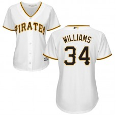 Women - Pittsburgh Pirates #34 Trevor Williams Home White Cool Base Jersey
