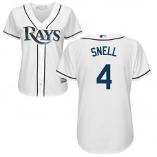 Women - Tampa Bay Rays #4 Blake Snell Home White Cool Base Jersey