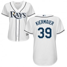 Women - Tampa Bay Rays Kevin Kiermaier #39 White Authentic Cool base Jersey