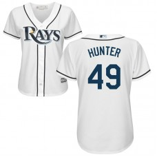 Women - Tampa Bay Rays #49 Tommy Hunter Home White Cool Base Jersey