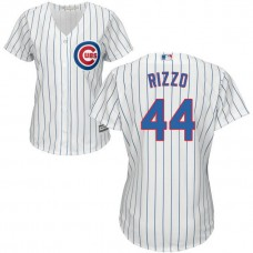 Women - Chicago Cubs Anthony Rizzo #44 White Official Cool Base Jersey