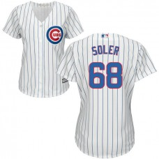 Women - Chicago Cubs Jorge Soler #68 White Official Cool Base Jersey