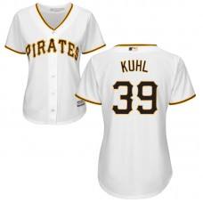 Women - Pittsburgh Pirates Chad Kuhl #39 White Official Cool Base Jersey