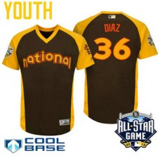 YOUTH 2016 All-Star National St. Louis Cardinals #36 Aledmys Diaz Brown Cool Base Jersey