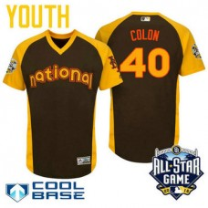 YOUTH 2016 All-Star National New York Mets Bartolo Colon #40 Brown Cool Base Jersey