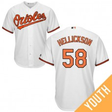 YOUTH Baltimore Orioles #58 Jeremy Hellickson Home White Cool Base Jersey